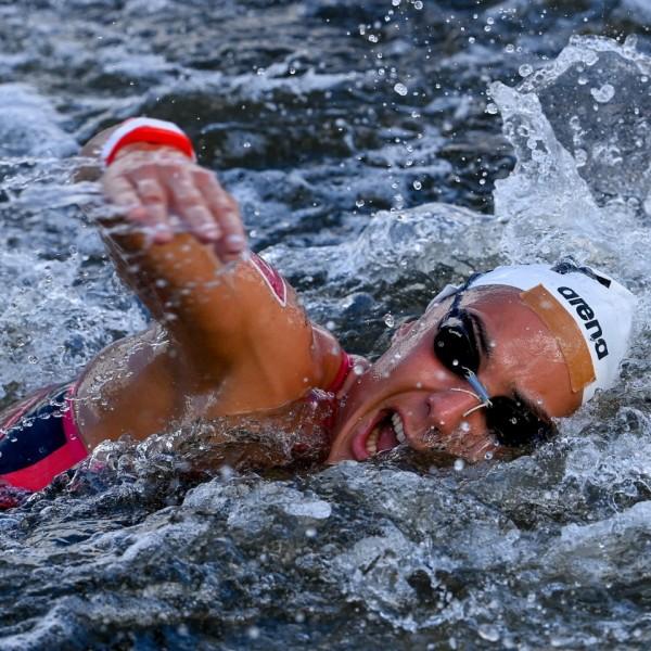 Olasz Anna negyedik lett 10 kilométeres nyílt vízi úszásban az olimpián