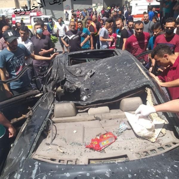 Rakétatalálat ért egy gázai autót, a benne ülő ember szörnyethalt - Videó (18+)