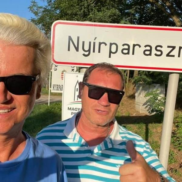 Wilders Nyírparasznyán nyaralt