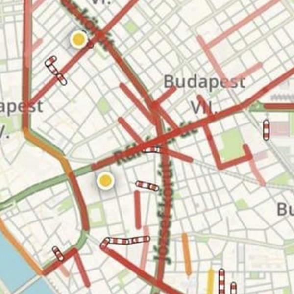 Ismét lerohadt a főváros közlekedése