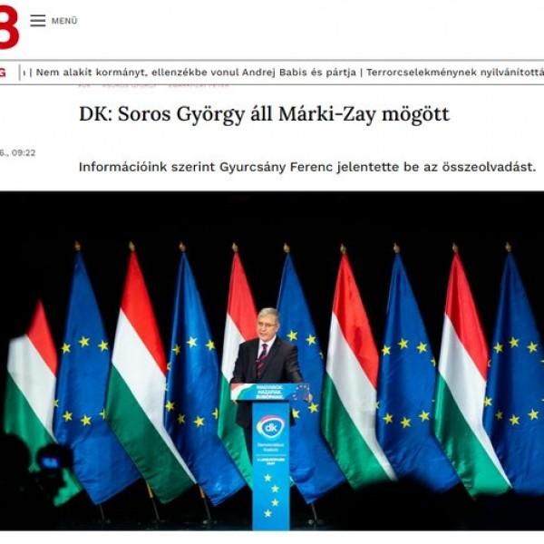 A 168 Óra megírta, hogy Gyurcsány szerint Soros áll Márki-Zay mögött, majd eltűnt a cikk