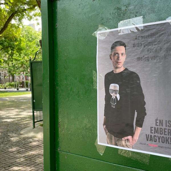 Baranyi Krisztina most LMBTQ-plakátokkal érzékenyít Ferencvárosban - Fotók