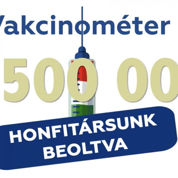 Orbán Viktor közölte, hogy elértük a négy és fél millió beoltottat