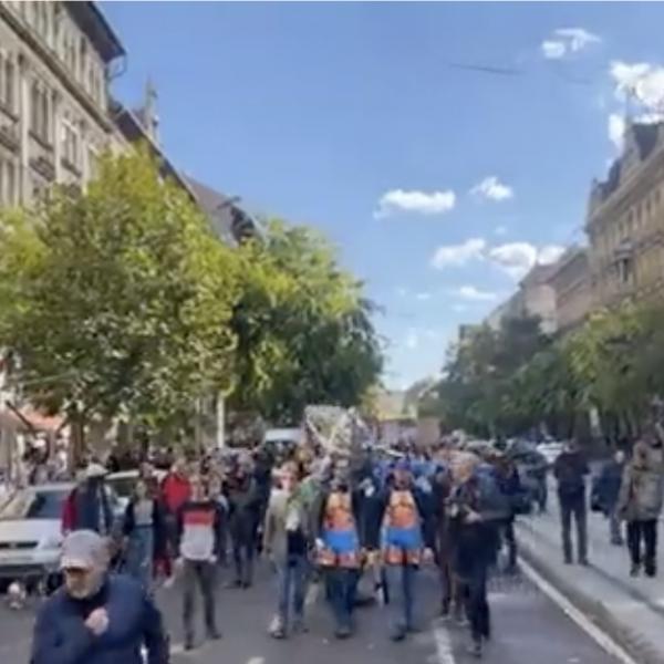 """Besült a kutyapárt """"békemenete"""": 500 csöves bóklászik Budapesten"""