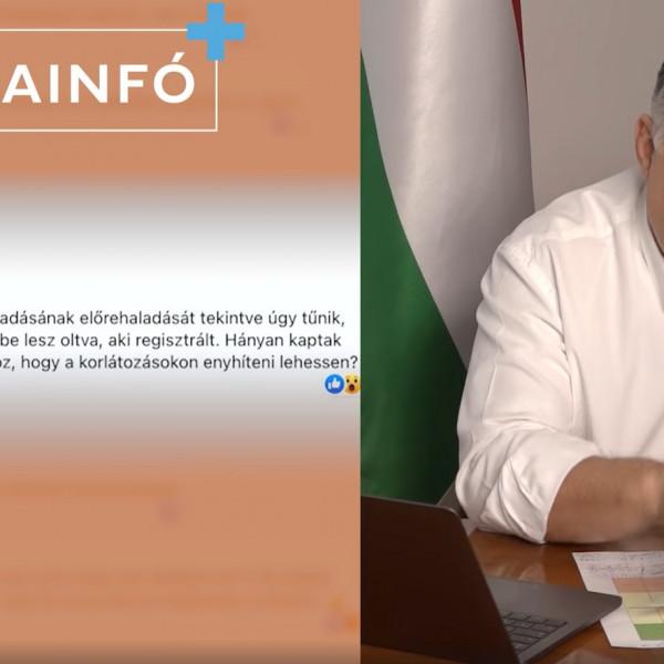"""""""Oltunk, minden nap oltunk"""" - Orbán Viktor beszámolt az oltás menetéről - Videó"""