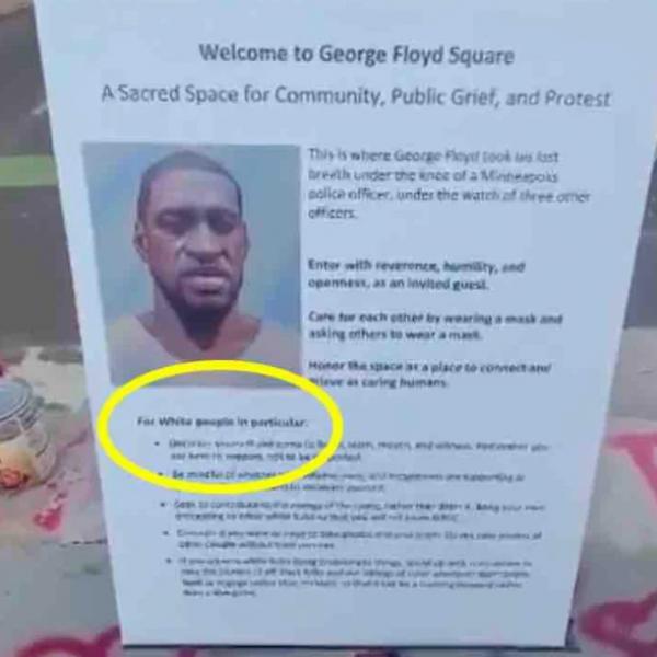 Különleges szabályok vonatkoznak a fehér emberekre a George Floyd téren