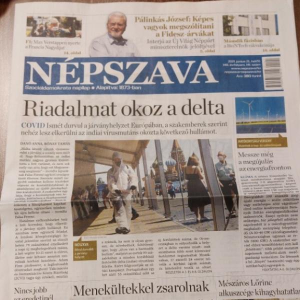 A kommunista Népszava egy sort sem írt a főcímlapon a franciák elleni csodáról