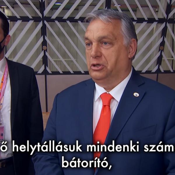 Orbán Viktor büszke a magyar válogatottra
