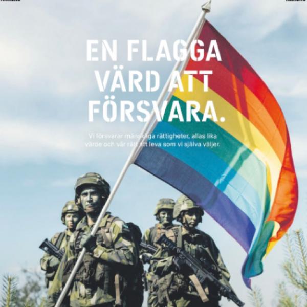 A svéd hadsereg is behódolt a szivárványnak