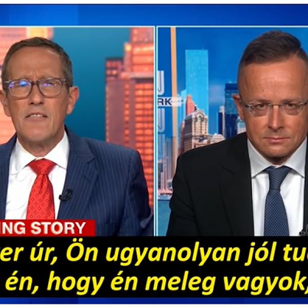 Szijjártó Péter most a CNN homoszexuális riporterét tette helyre - Videó