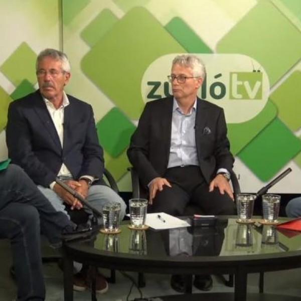 Egymás gyalázásával szórakoztatta a Zugló TV nézőit Hadházy és Tóth